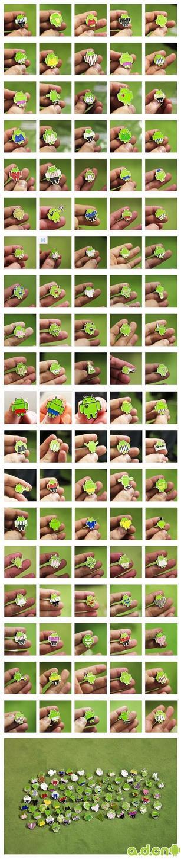 造型各异——限量版 Android 徽章集锦