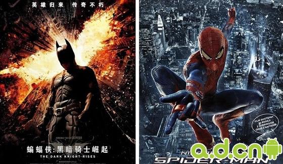 《蝙蝠侠:黑暗骑士崛起》大战《超凡蜘蛛侠》