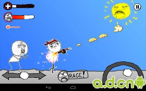 """游戏采用手绘画面,在暴走漫画中经常能看到的嘴脸就是你要打的""""地鼠""""."""