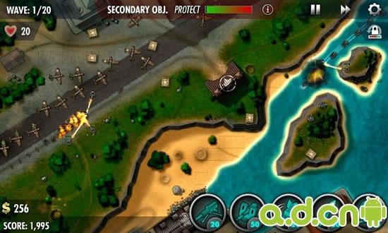 安卓 防御/第三,游戏还原了真实战场。...