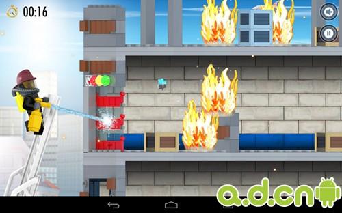 安卓休闲益智游戏《乐高消防员 LEGO City Fire Hose Frenzy》