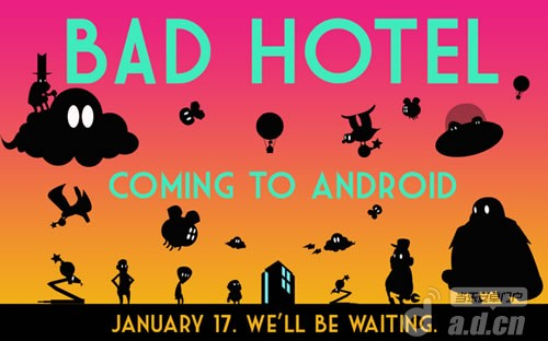 音樂塔防遊戲『酒店塔防Bad Hotel』明日登陸Android