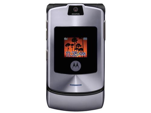 摩托罗拉v3上市时间_图为曾红极一时的摩托罗拉v3手机