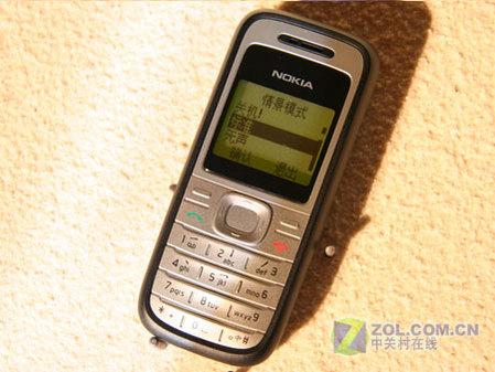 图为:诺基亚1200手机图片